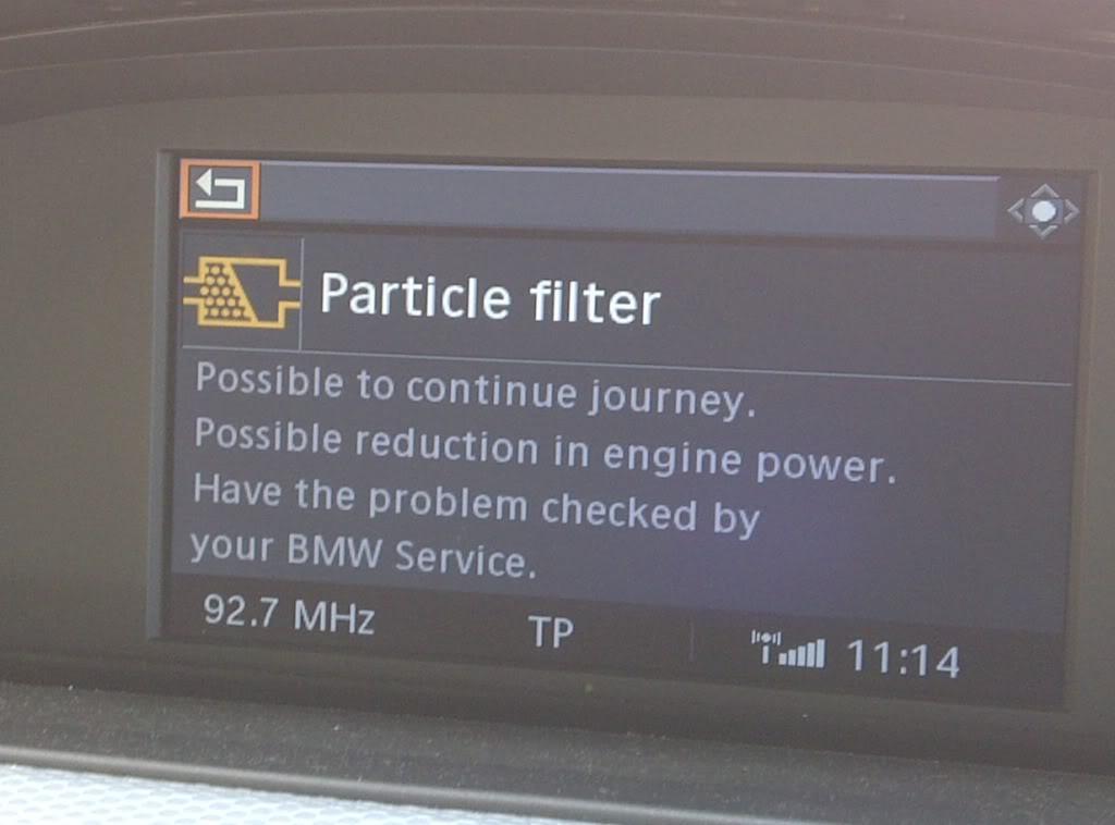 BMW DPF Napaka
